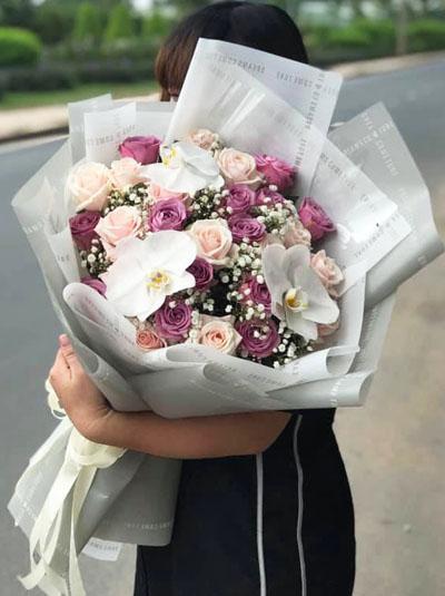 Bó hoa Nồng ấm