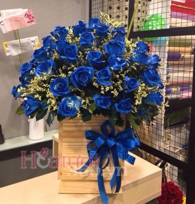 Bó hoa hồng xanh tuyệt đẹp thể hiện bí ẩn, say đắm trong tình yêu