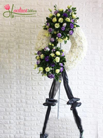 Vòng hoa tang lễ - Chia xa