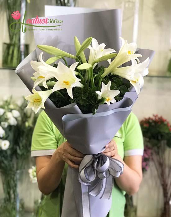 Bó hoa loa kèn trắng đẹp nhất Hoa Tươi 360