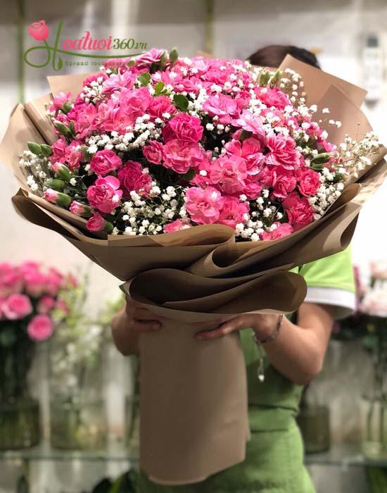 Bó hoa cẩm chướng mừng sức khỏe tuyệt đẹp