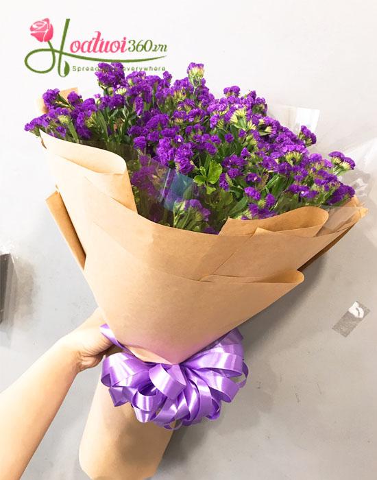 Bó hoa salem tím tươi đẹp tại shop hoa tươi 360