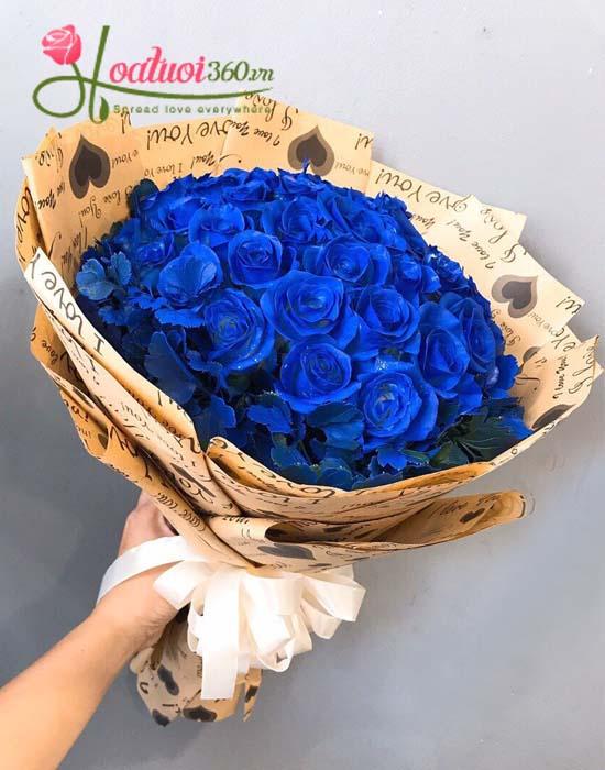 Bó hoa blue love chúc mừng ngày Quốc tê Phụ nữ