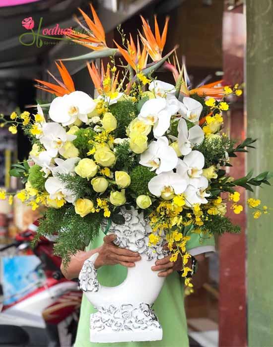 Bình hoa mừng khai trương nhỏ sáng trọng đầy ý nghĩa