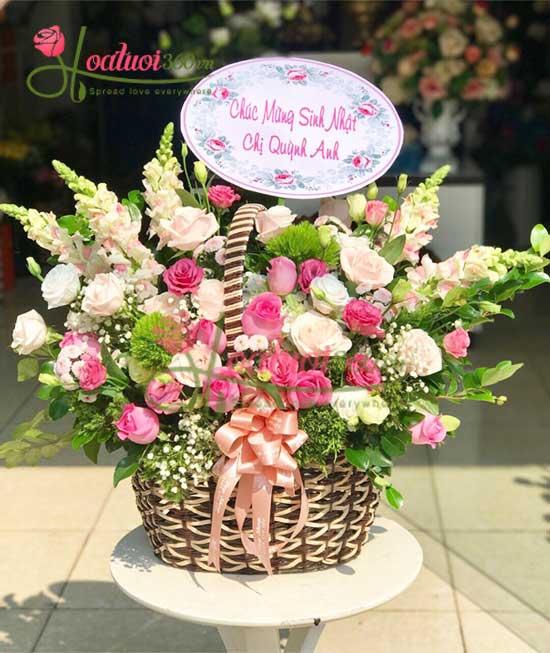 Điện hoa sinh nhật tại shop hoa tươi 360 nhanh nhất