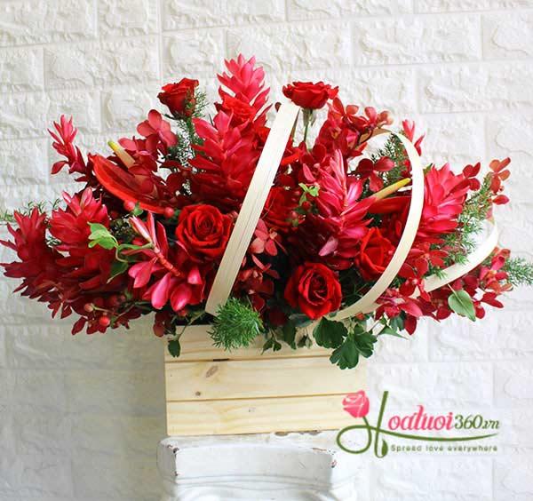 hoa chúc mừng sinh nhật mùa yêu