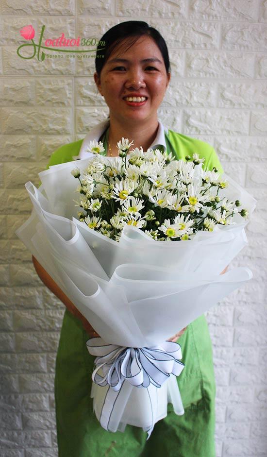 Bó hoa cúc họa mi - Đông đã về