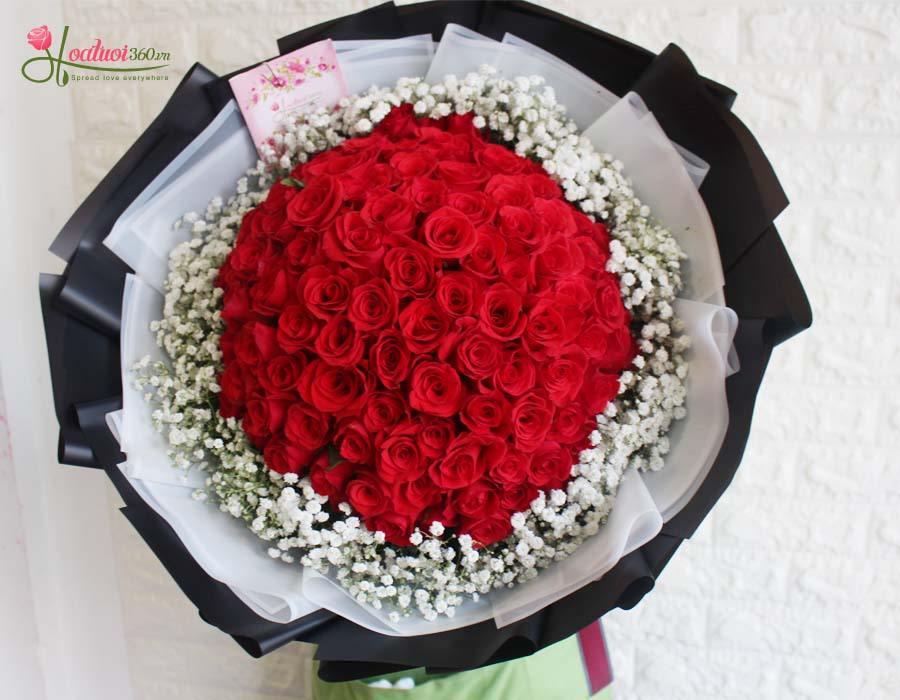 99 đóa hoa hồng xin lỗi người yêu
