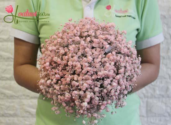 Hoa cầm tay cô dâu đơn giản, đẹp