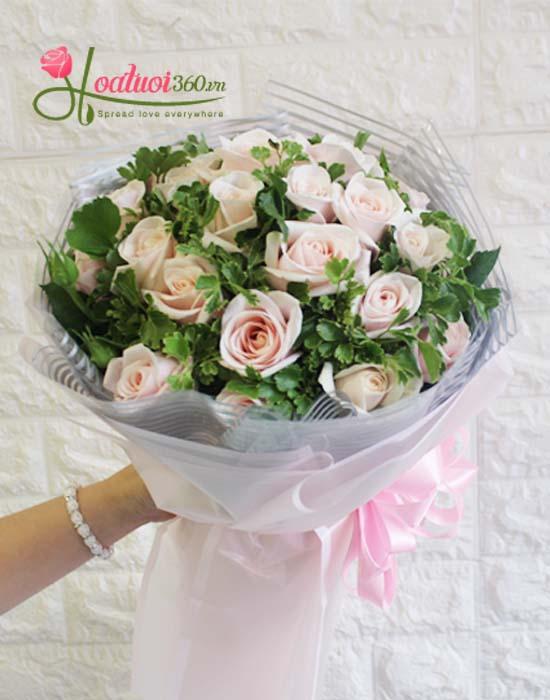 Bó hoa hồng da - Điều ngọt ngào nhất trong ngày 20/10