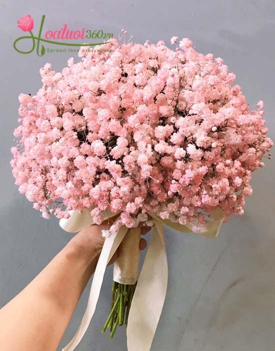 Hoa baby hồng là xu hướng mới trong các lễ cưới