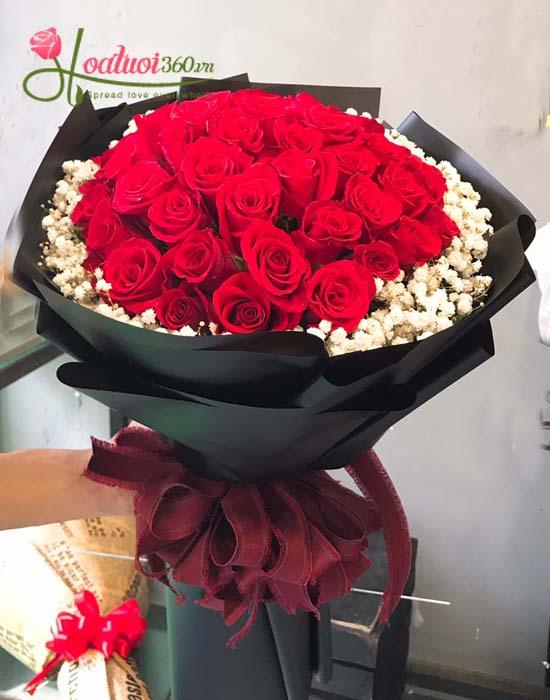 Bó hoa hồng đỏ baby đốn tim nàng trong ngày 20/10