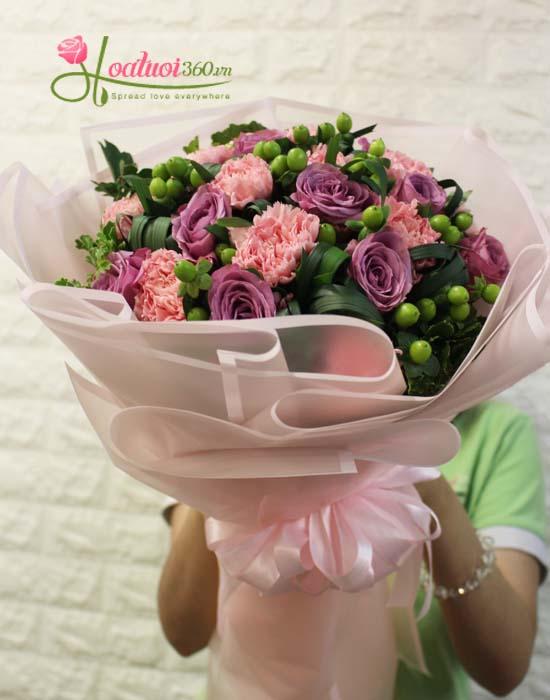 Bó hoa chúc mừng ngày hạnh phúc