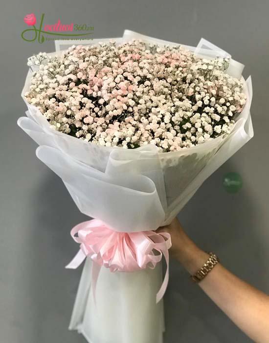 Bó baby hồng phớt nhẹ nhàng - Hoatuoi360.vn