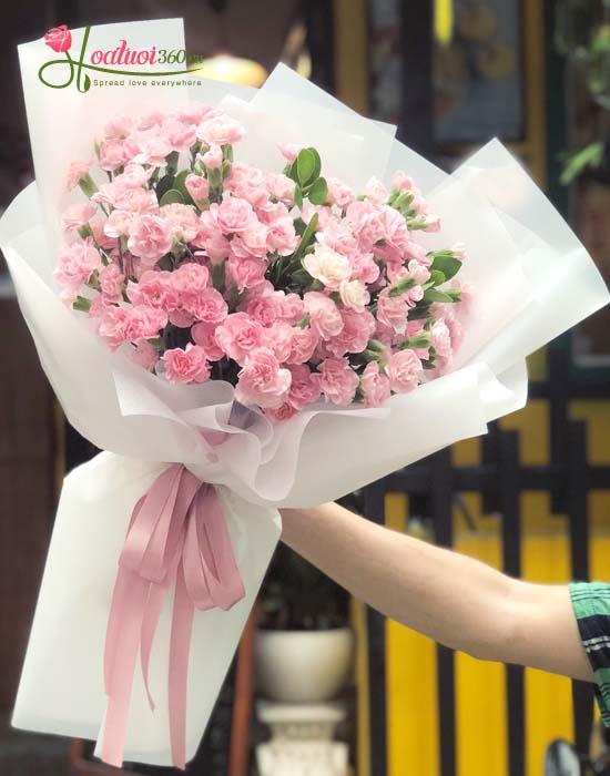Bó hoa cẩm chướng mừng sức khỏe - Điều ngọt ngào nhất