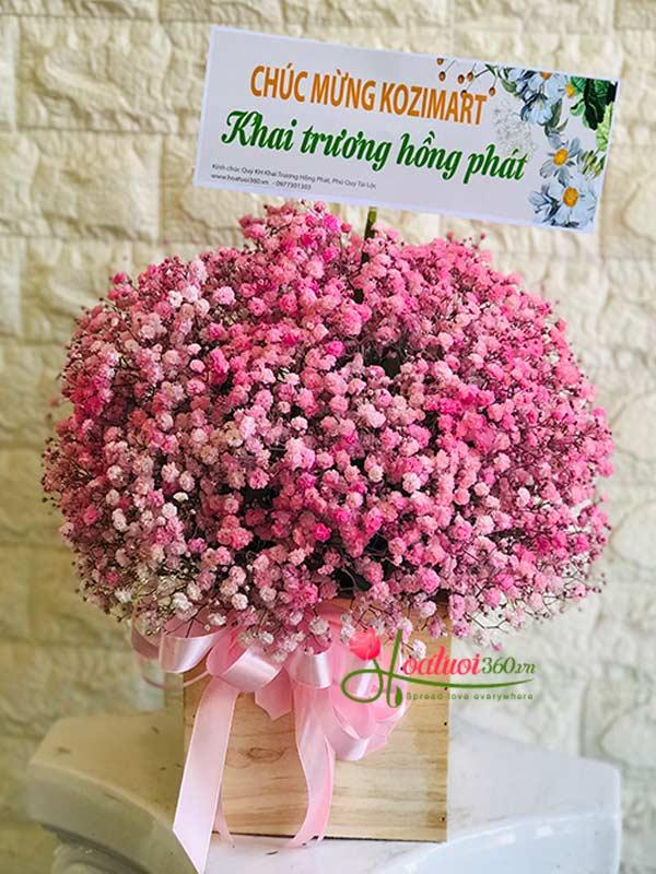 Hoa hộp baby hồng chúc mừng sinh nhật bạn nữ