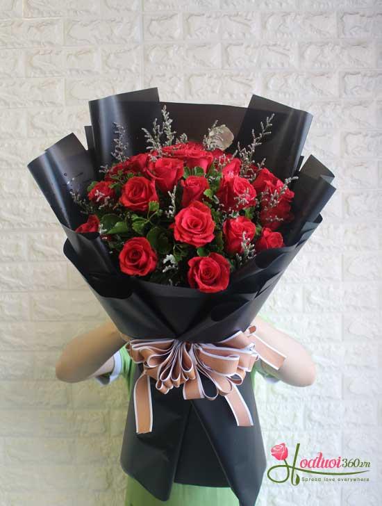 Hoa hồng tình yêu rực cháy- hoa tươi nguyễn thị thập