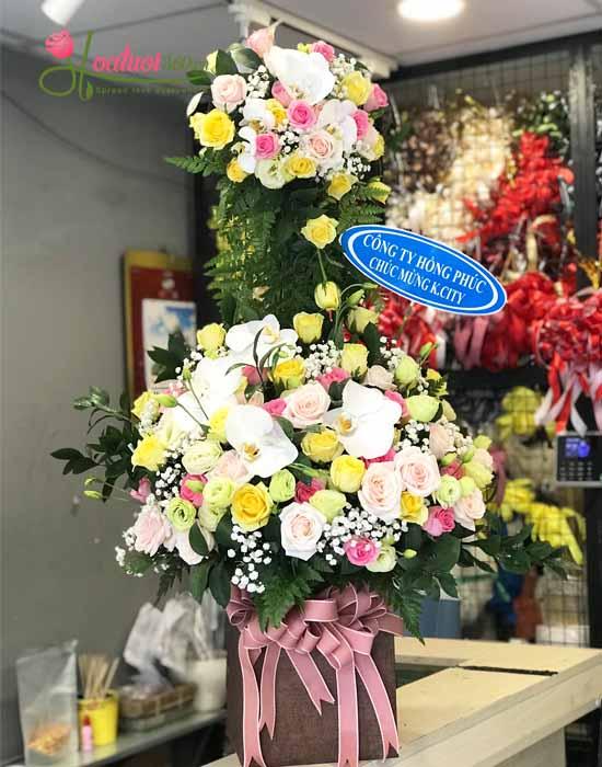 Mẫu Kệ hoa mừng khai trương nhỏ, những cửa hàng nhỏ hay công ty nhỏ