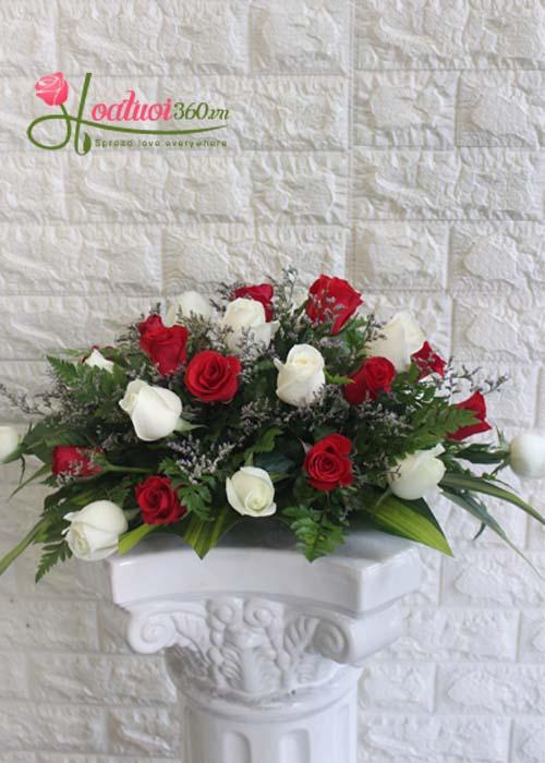 Mẫu hoa để bàn tuyệt đẹp