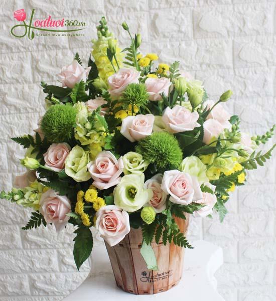 Bình hoa tươi định kì mùa hè