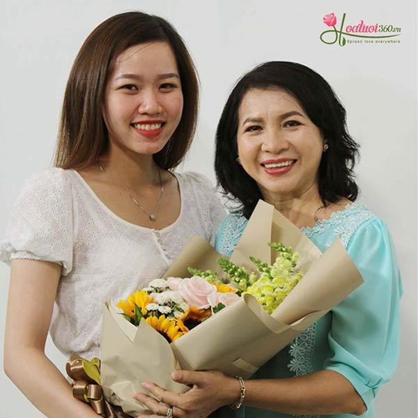 Bó hoa ý nghĩa tặng mẹ ngày 8/3