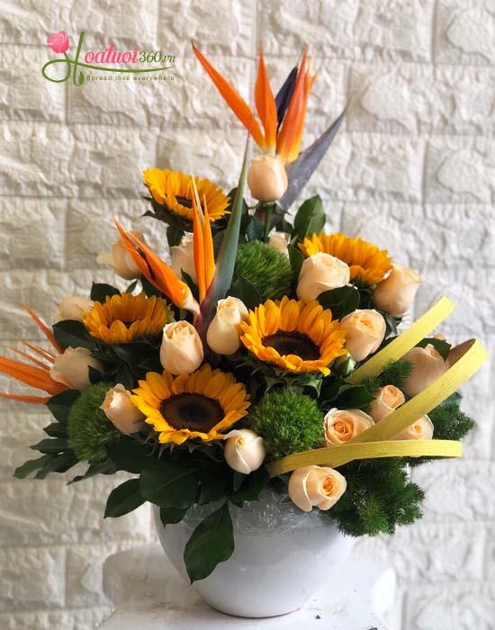 Hoa chúc mừng-thuận buồm xuôi gió- hoa tươi nguyễn thị thập