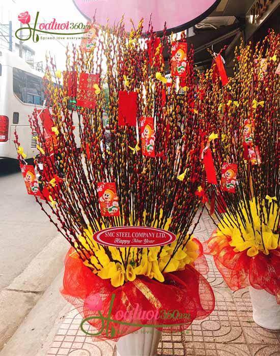 Bình tầm xuân đỏ - Thăng hoa