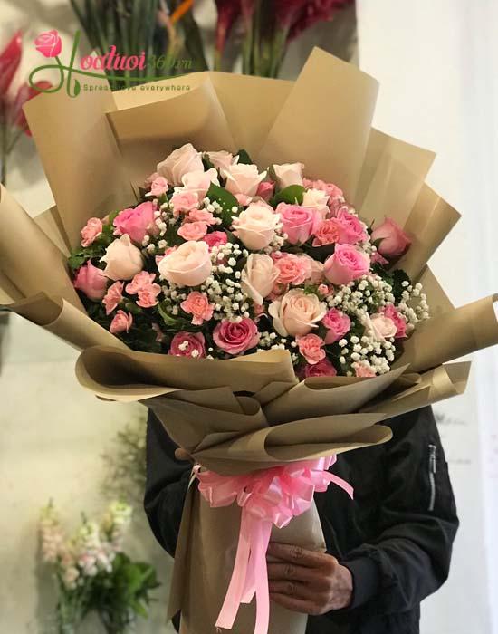 Bó hoa tươi đẹp- Tình ấm nồng