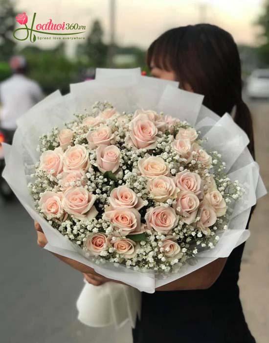 Bó hoa xin lỗi vợ