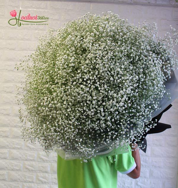 Bó hoa baby trắng đẹp lãng mạn