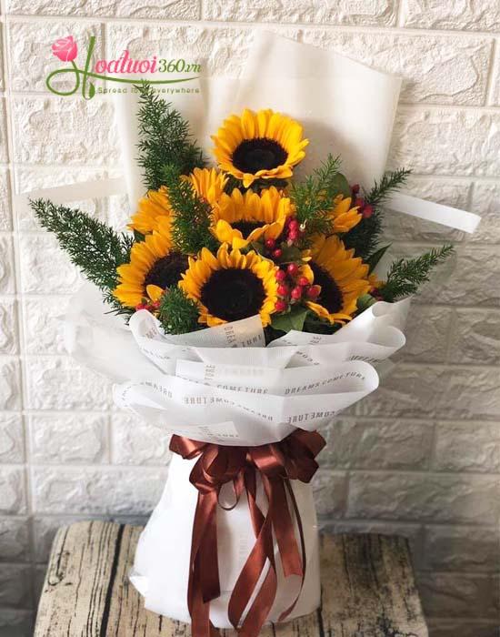 Bó hoa hướng dương mừng tốt nghiệp - Niềm vui mỗi ngày