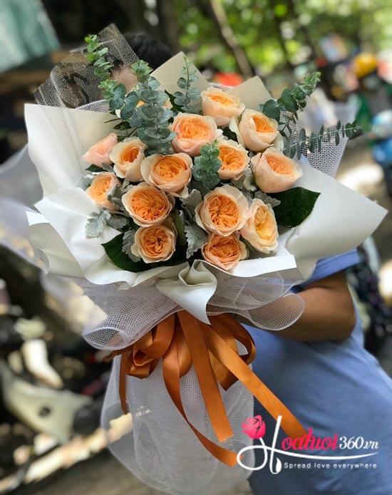 Bó hồng Juliet với cánh hoa mềm mại mang lại cung bác cảm xúc diệu kỳ