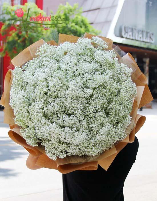 Bó hoa baby trắng đẹp sang trọng