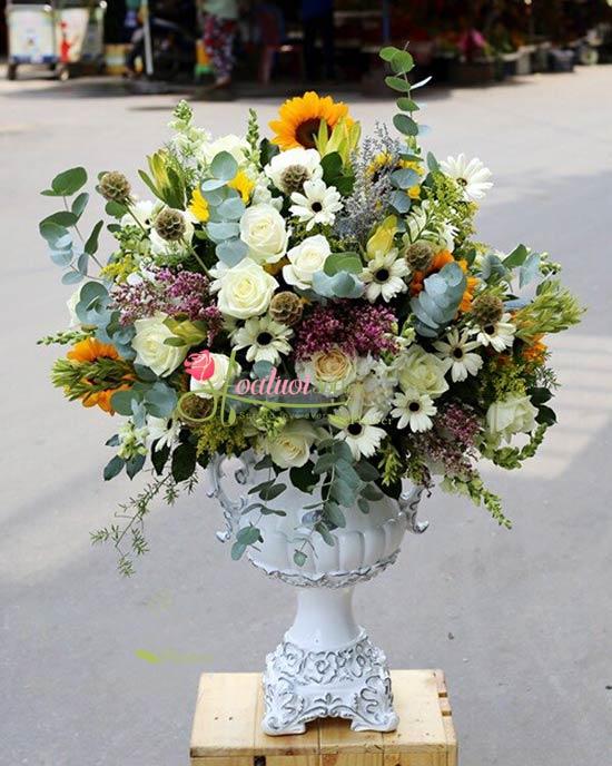 Bình hoa vip chúc mừng - Thanh tao