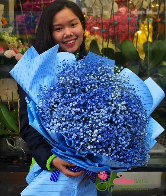 Bó hoa chúc mừng hồng dâu ngọt ngào