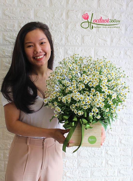 Giỏ hoa tana chúc mừng sinh nhật người yêu