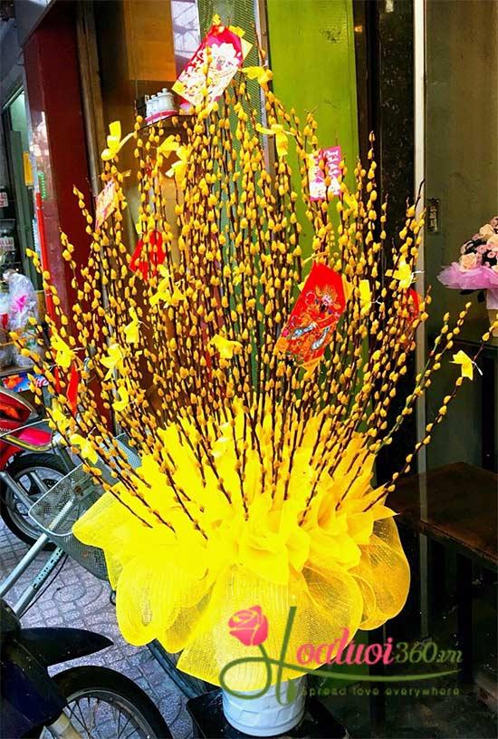 Bình hoa Tầm xuân vàng - Tết đến rồi