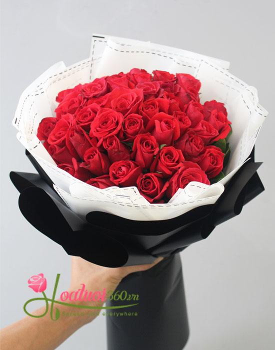 hoa bó tròn cho vơi nỗi nhớ