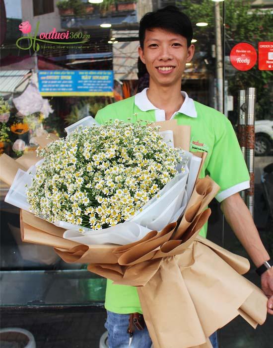 Bó hoa cúc tana mừng ngày phụ nữ Việt Nam - Vẻ đẹp ngây thơ