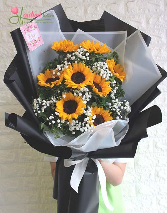 Bó hoa hướng dương tặng bạn gái nhân ngày Valentine