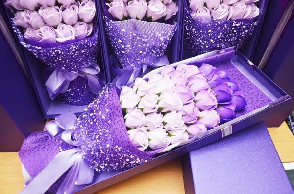 hoa hồng sáp thơm chúc mừng sinh nhật