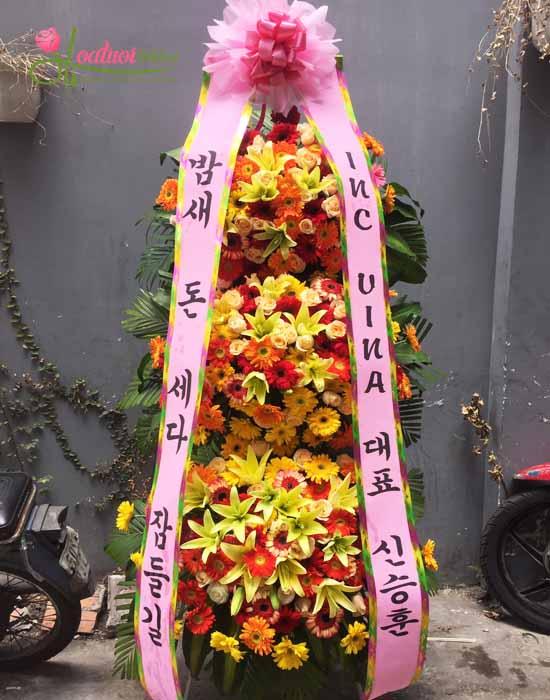 kệ hoa chúc mừng khai trương Hàn Quốc