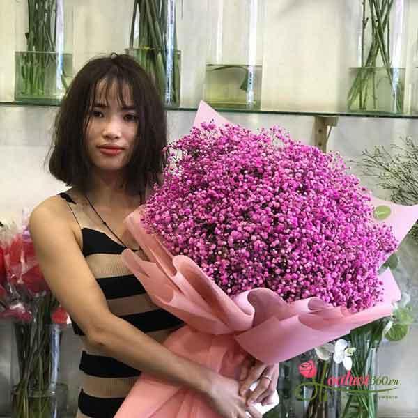 Bó hoa baby hồng cực xinh xắn