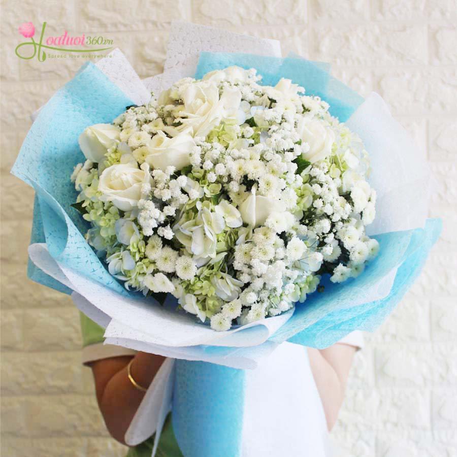Hoa hồng trắng chứa đựng lời xin lỗi chân thành
