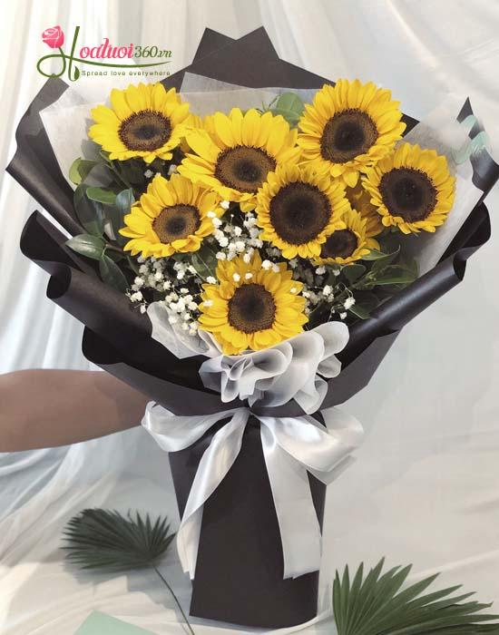 Bó hoa hướng dương rực rỡ nhất tại shop hoa tươi 360