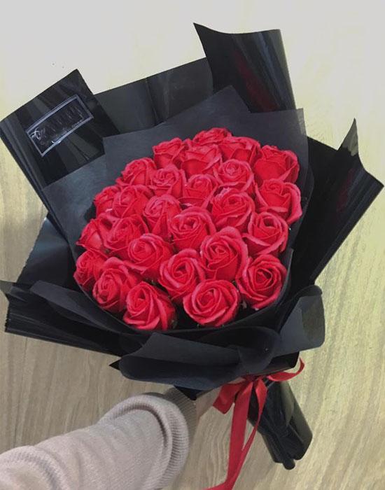 Bó hoa hồng sáp thơm