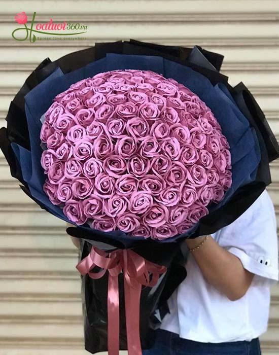 ý nghĩa hoa hồng sáp thơm hồng nhạt
