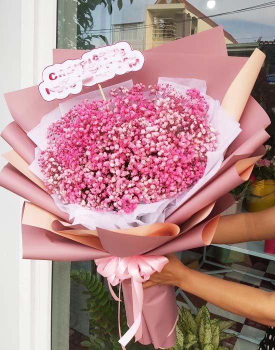 Bó hoa baby hồng dịu dàng và lãng mạn