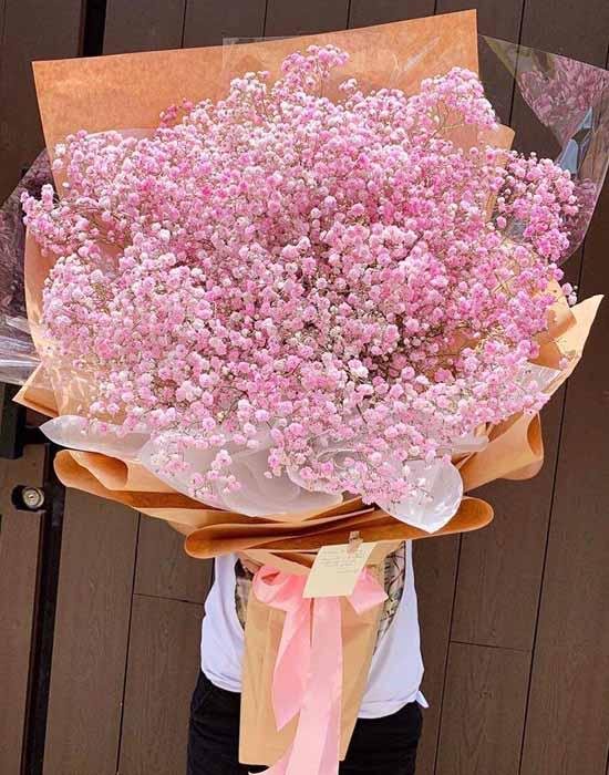 bó baby hồng khủng tặng nàng