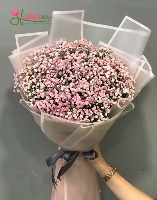 Bó hoa baby hồng - Đáng yêu
